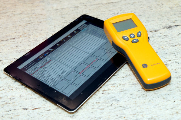 Building Inspection tools including moisture meter